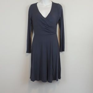 NWT Gilli light navy mock wrap 3/4 sleeve dress